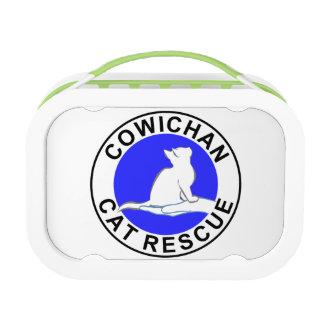Combo: logo/black cat, white fill lunch box
