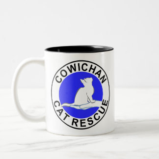 Combo: logo/black cat, white fill Two-Tone coffee mug