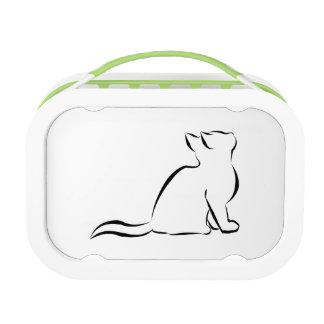 Combo: logo/black silhouette lunch box