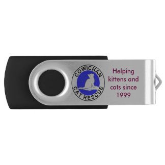 Combo: logo/black silhouette USB flash drive