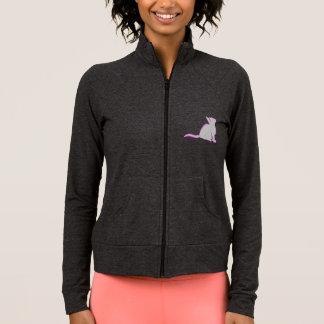 Combo: logo/pink cat, grey fill jacket