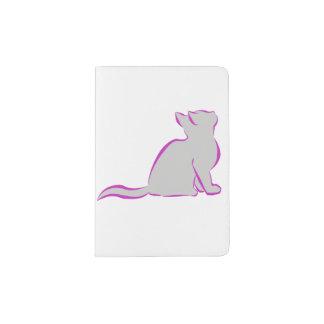 Combo: logo/pink cat, grey fill passport holder