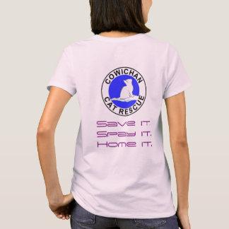 Combo: logo/pink cat, grey fill T-Shirt