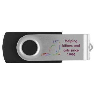 Combo: logo/rainbow silhouette USB flash drive