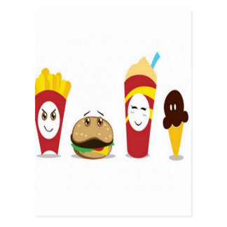 Combo meal design postcard