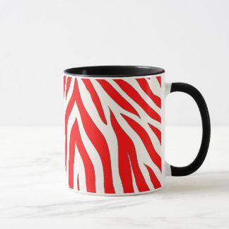 Combo mug with red zebra design