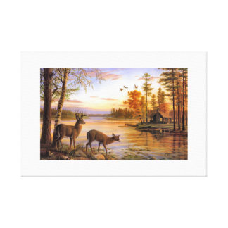 combo of river and nature canvas print