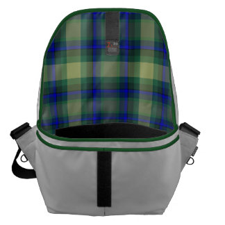 Combo Plaid Interior-Print messenger bag