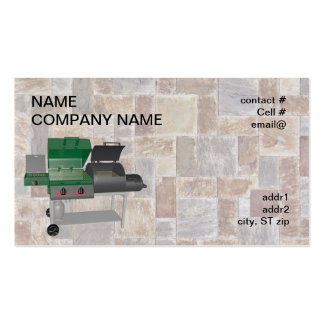 combo smoker bbq grill business card