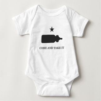 Come and Take It Baby Bottle Black Baby Bodysuit