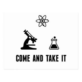 Come and Take It Science Post Card