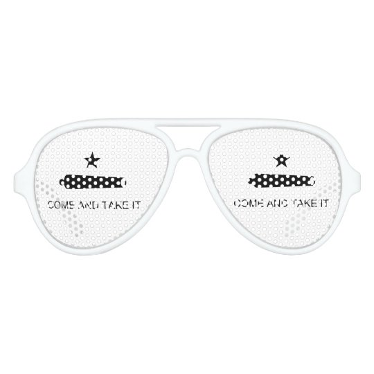 Come and Take It - Texas Flag Revolution Military Party Sunglasses