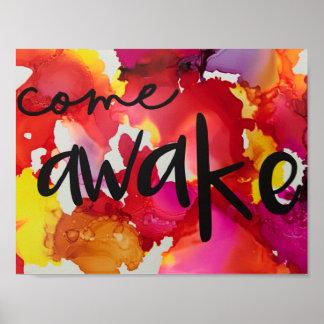 Come Awake sunrise poster