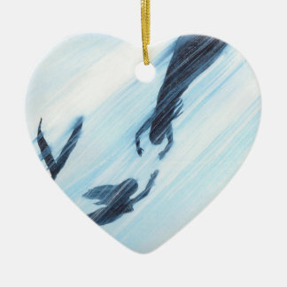 Come Away With Me Ceramic Heart Ornament