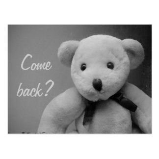 Come Back Teddy Postcard