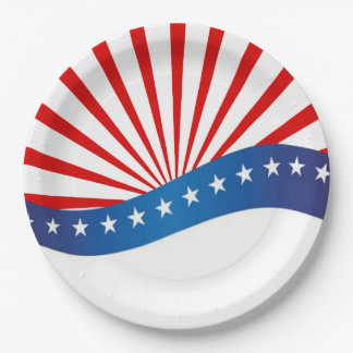 Come Celebrate Memorial Day Party Paper Plates