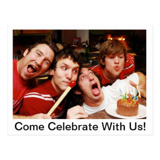 Come Celebrate With Us! Postcard