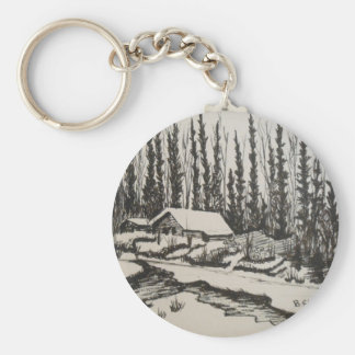 Come Flow Gently Home Basic Round Button Keychain