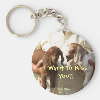 come here I want to lick your face, I Want To K... Basic Round Button Keychain