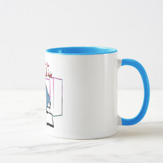 come in for a quick byte bite shark coffee mug