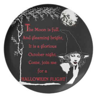 Come Join Me For a Halloween Flight! Plate