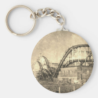 Come out to play basic round button keychain