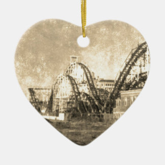 Come out to play ceramic heart ornament