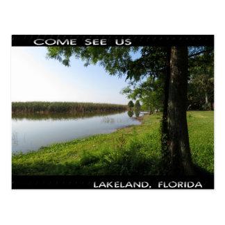 Come see us, Lakeland FL Postcard
