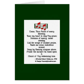 Come Thou Fount Hymn Card