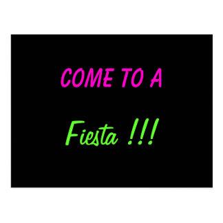 COME TO A FIESTA!!! - postcard invitation