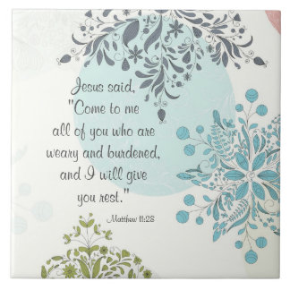 Come to Me I will give you rest Matthew 11 Vintage Tile