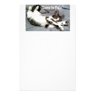 """""""Come To Papa"""" Cat Stationery"""