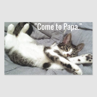 """Come To Papa"" Cat Sticker"