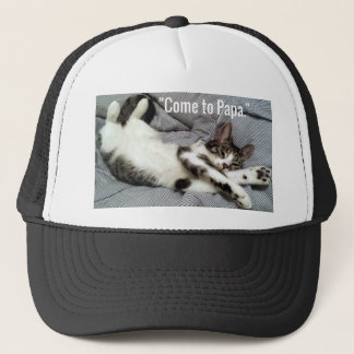 """""""Come To Papa"""" Cat Trucker Hat"""
