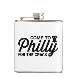 Come to Philly for the Crack Hip Flask