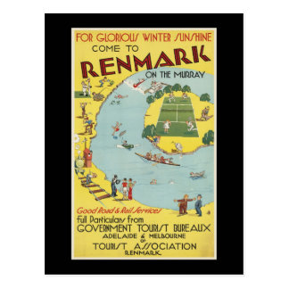 come to Renmark on the Murray Postcard