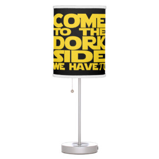 Come To The Dork Side We Have Pi Table Lamps