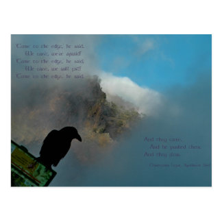 Come to the Edge Poem Postcard