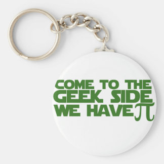 Come to the Geek side we have Pi Basic Round Button Keychain