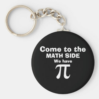 Come to the math side we have Pi! Basic Round Button Keychain