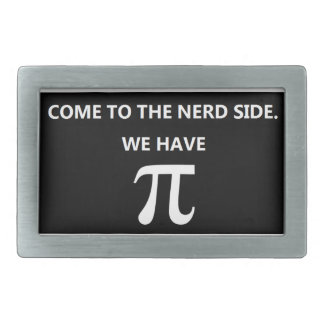 """""""Come to the nerd side"""" Belt Buckle Black"""