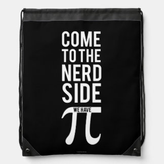 Come To The Nerd Side Drawstring Bag