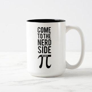 Come To The Nerd Side Two-Tone Coffee Mug