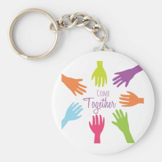 Come Together Basic Round Button Keychain
