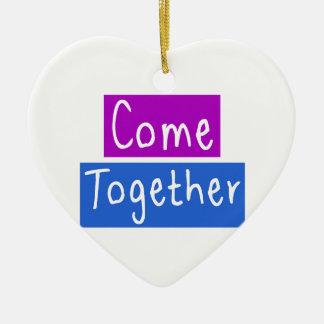 Come Together Ceramic Heart Ornament