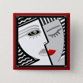 Come Together (pin) 2 Inch Square Button