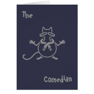 Comedian Cat Card