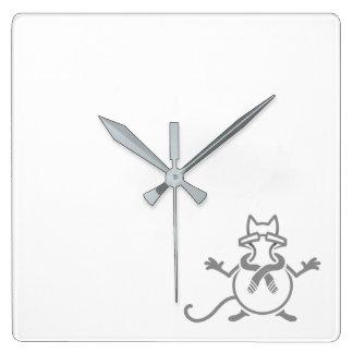 Comedian Cat Square Wall Clock