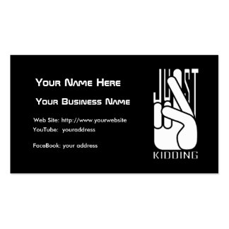 Comedian Just Kidding Business Card