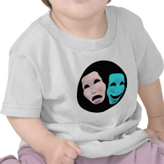 comedy-157719  comedy face theater tragedy masks r t shirt